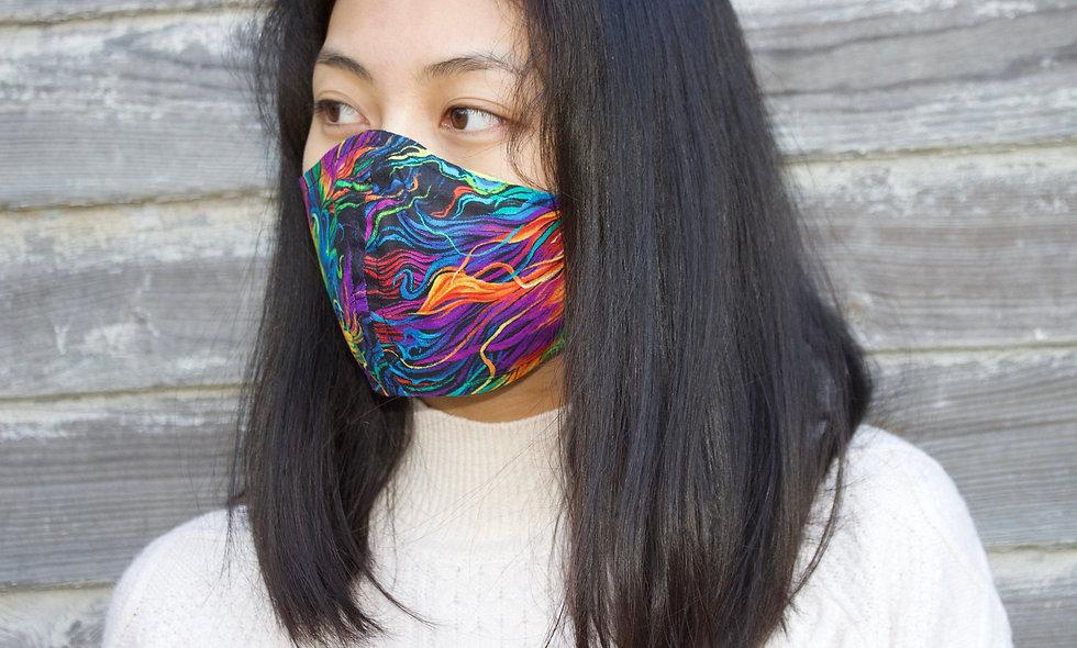 Illusion Regenbogen Baumwolle Maske- hannisch