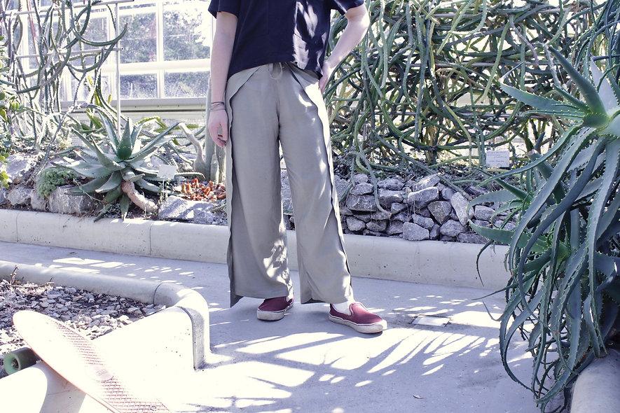 Wickelhose Lang Khaki 100% Viskose  - hannisch