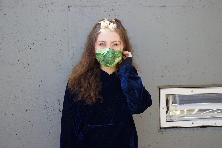 Blätter Grün Maske- hannisch