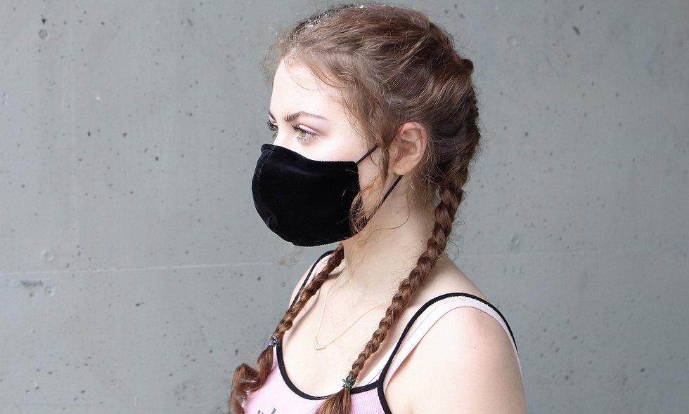 Schwarz Samt Maske- hannisch