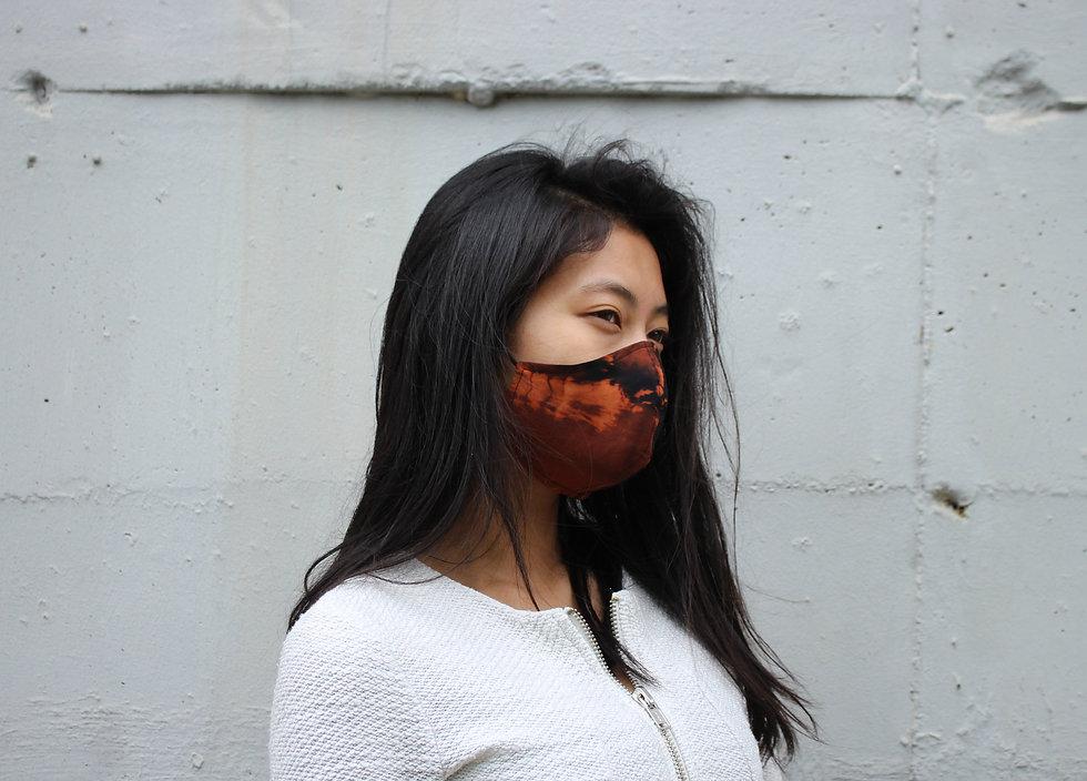 Easy Breathe Mask. Super Dünne Chlor Batik Baumwolle Maske- hannisch