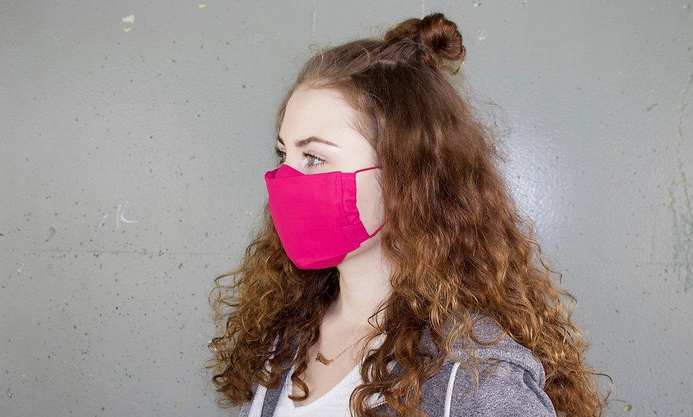 Pink Baumwolle Flap Maske- hannisch