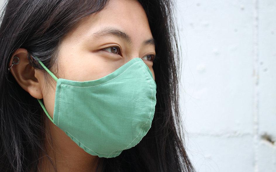 Easy Breathe Mask. Super Dünne Grün Baumwolle Maske- hannisch