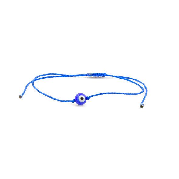 Kordel Evil Eye Blau Rund Perle Armband/Fußkette