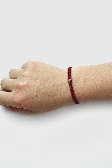 Makramee Rose Gold Perle  Armband/Fußkette