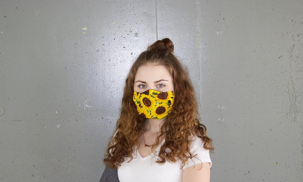 Sonnenblume Baumwolle Flap Maske- hannisch