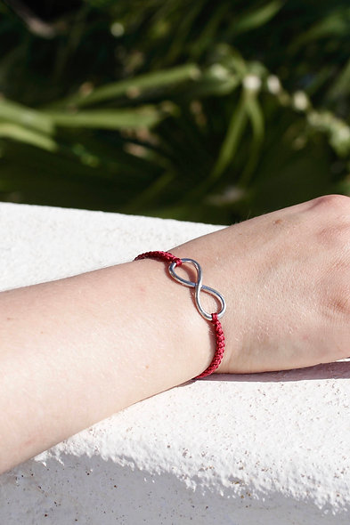 Makramee Unendlich  Armband/Fußkette