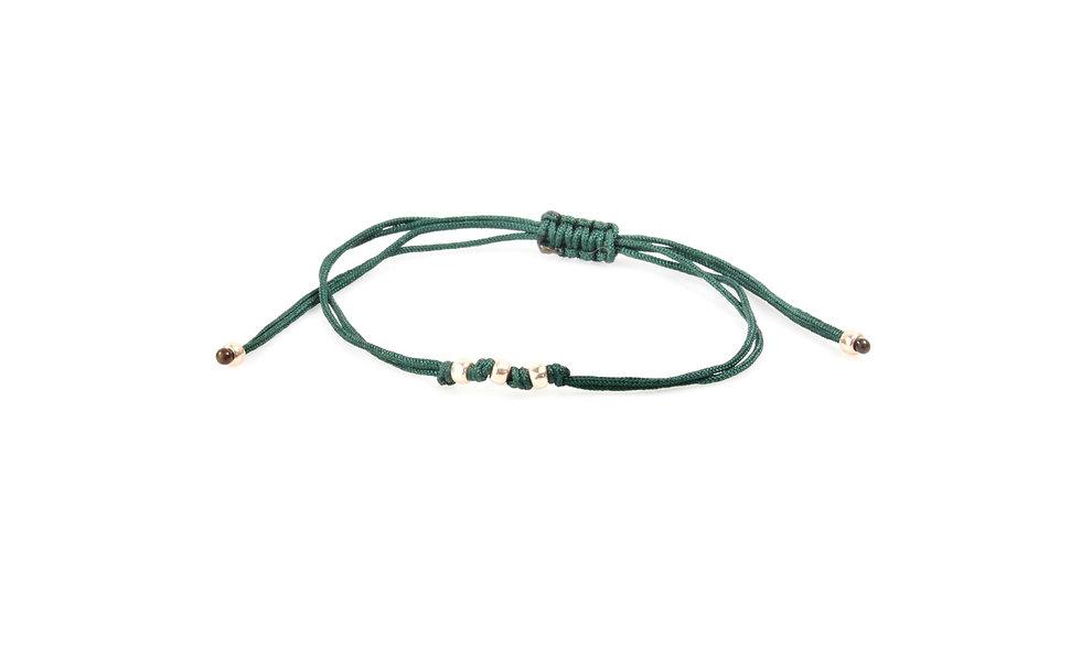 Kordel Rose Gold Perlen Armband/Fußkette