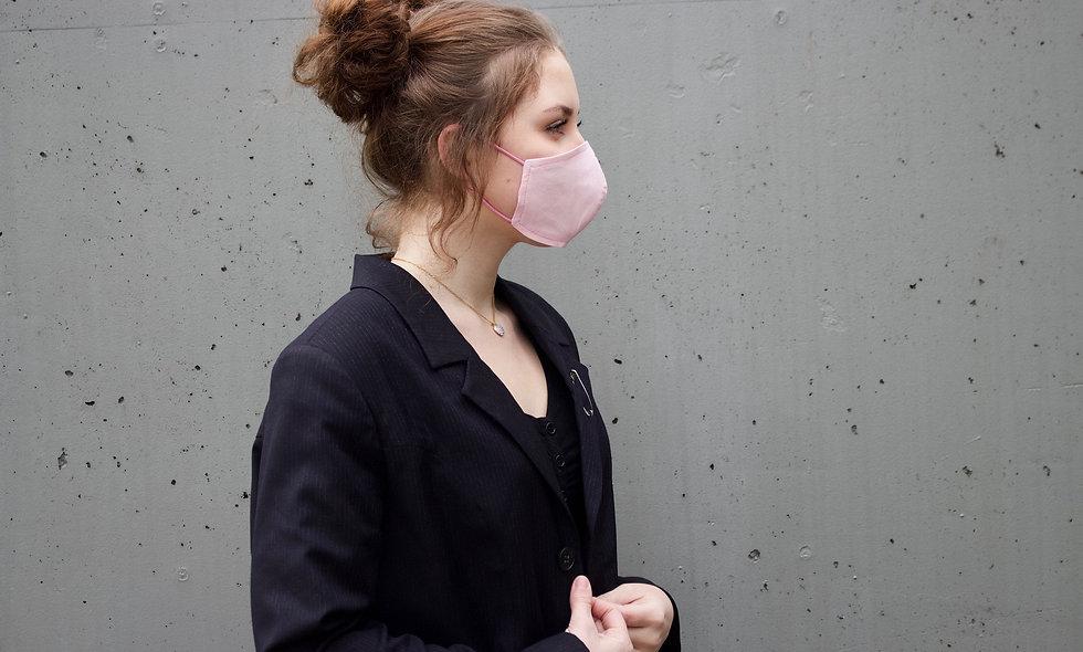 Hell Rosa Baumwolle Maske- hannisch
