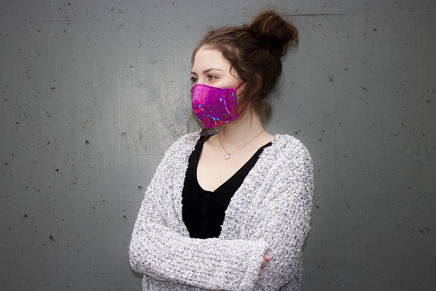 Holographic Pink Maske- hannisch
