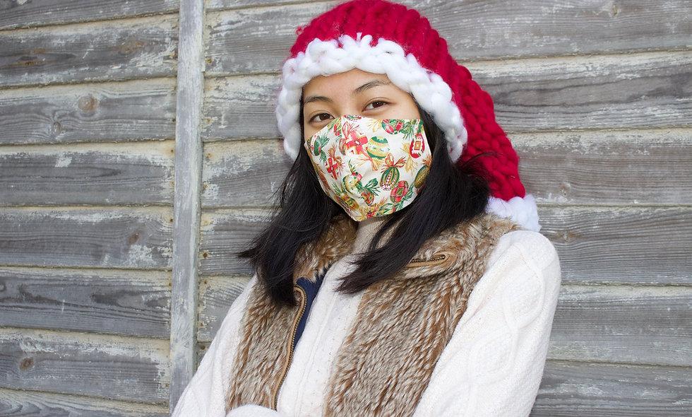 Weihnachtskugeln Maske- hannisch