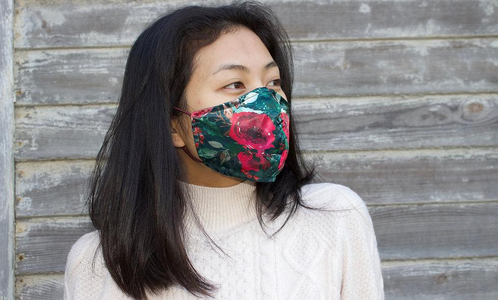 Satin Rosen Maske- hannisch