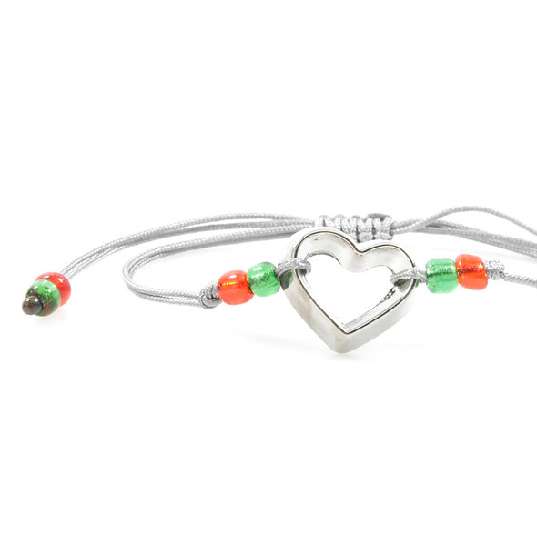 Kordel Herz Ausstecher Silber Armband/Fußkette