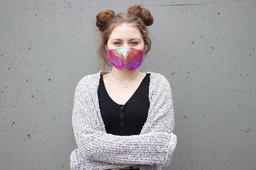Folie Holographic Pink Maske- hannisch