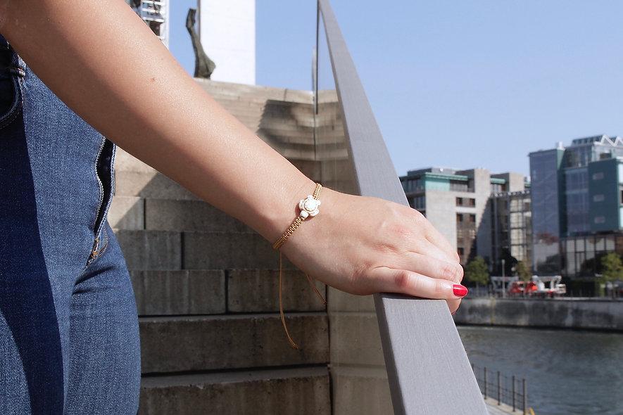 Makramee Schildröten Beige  Armband/Fußkette