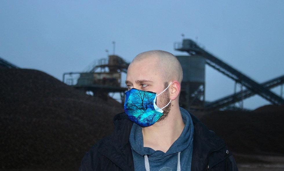 Nordlichter Wald Baumwolle OP- Masken Überzieher- hannisch