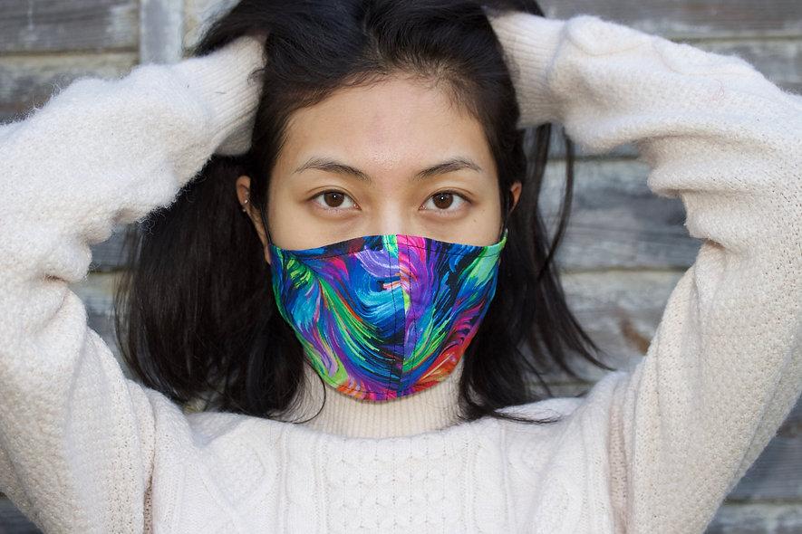 Abstrakt Bunt Baumwolle Maske- hannisch