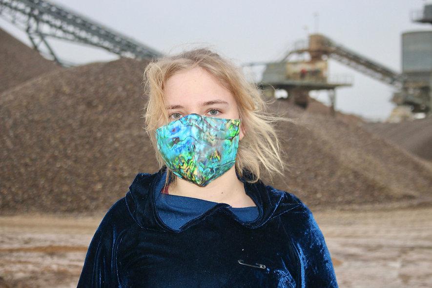Perlmutt Baumwolle FFP2 & KN95 Masken Überzieher- hannisch
