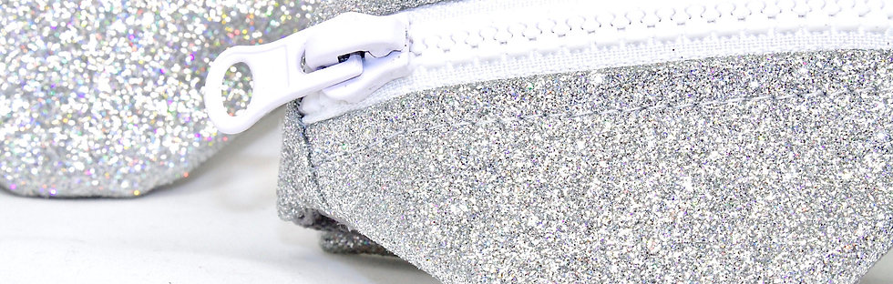 Gelenktasche  Feiner Holo Glitter Silber Gelenk Tasche - hannisch