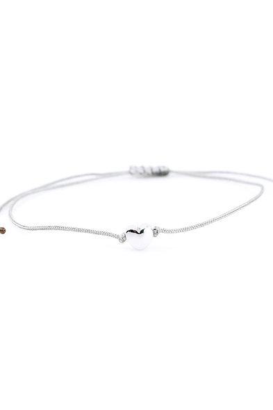 Kordel Herz Silber Armband/Fußkette