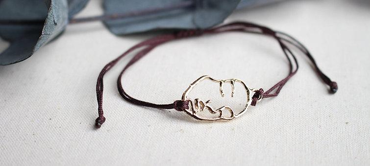 Kordel Geometrisch Asymmetrische Gesicht Klein Gold Armband/Fußkette