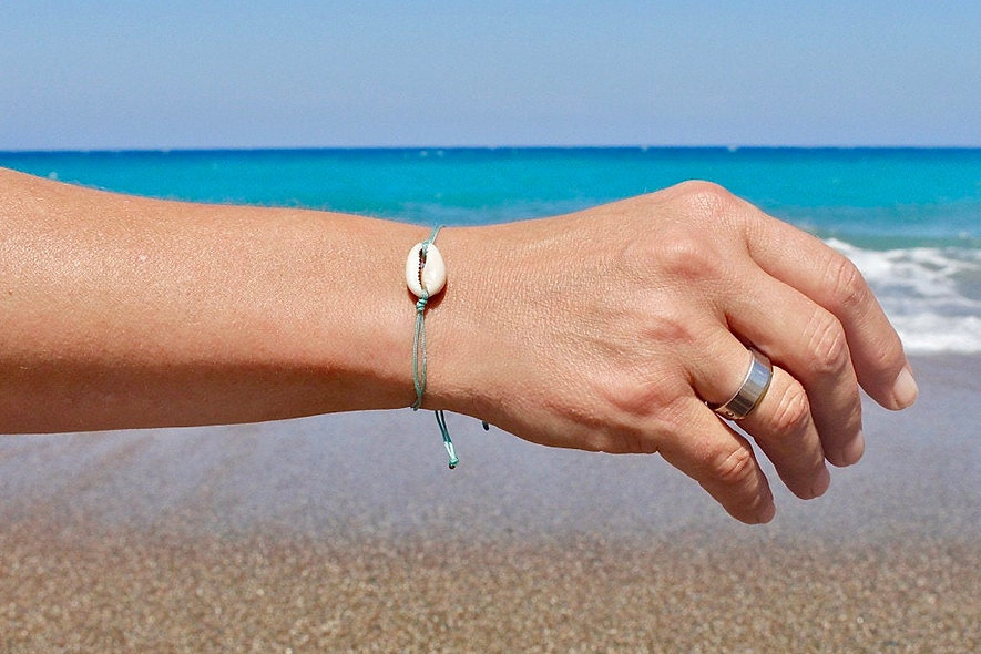 Kordel Echte Muschel Armband/Fußkette