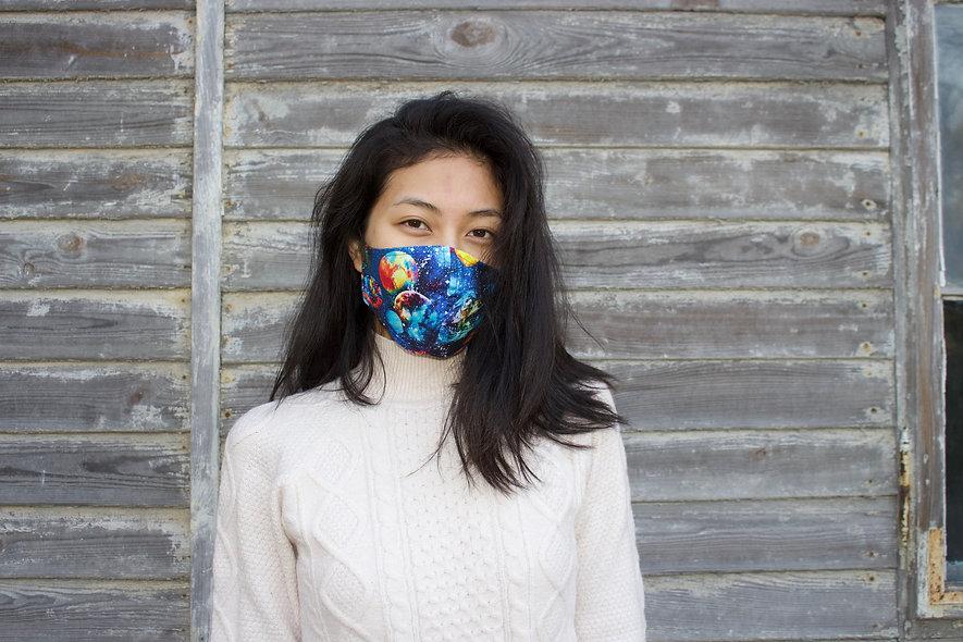 Weltall Planeten Galaxy Baumwolle Maske- hannisch