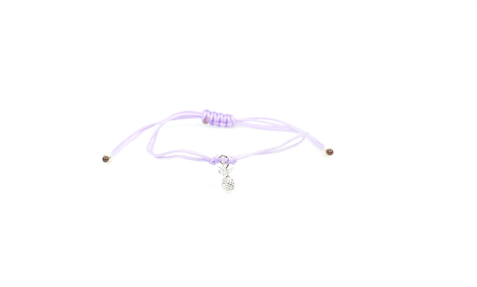 Kordel Ananas Silber Perlen Armband/Fußkette