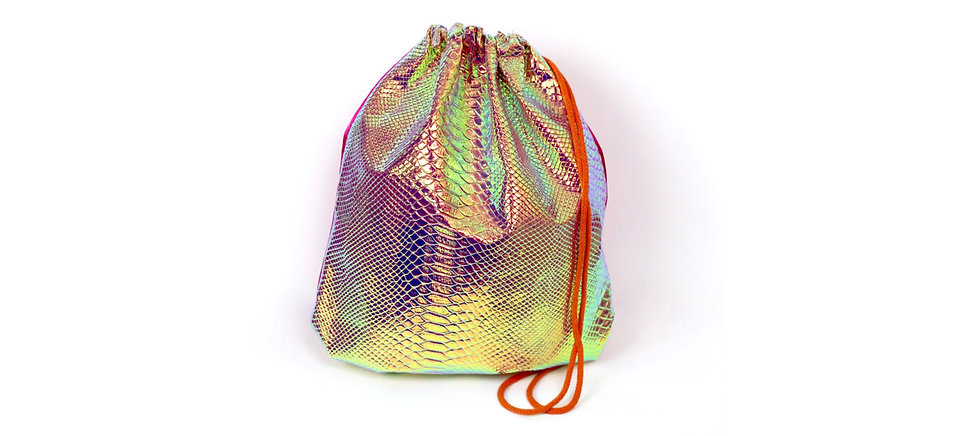 Holographic Pink Orange Schlange Gym Bag - hannisch