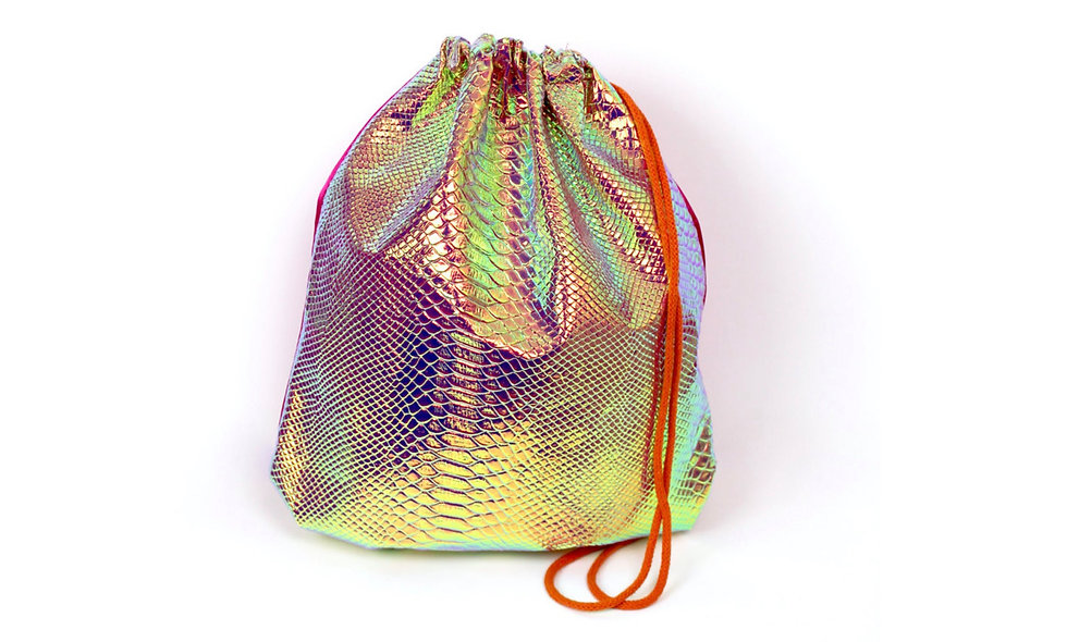 Holographic Pink Orange Schlange Gym Bag - hannisch