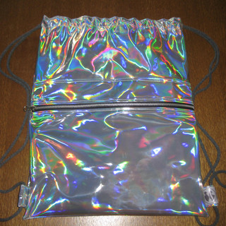 Silver Holographic Gymbag