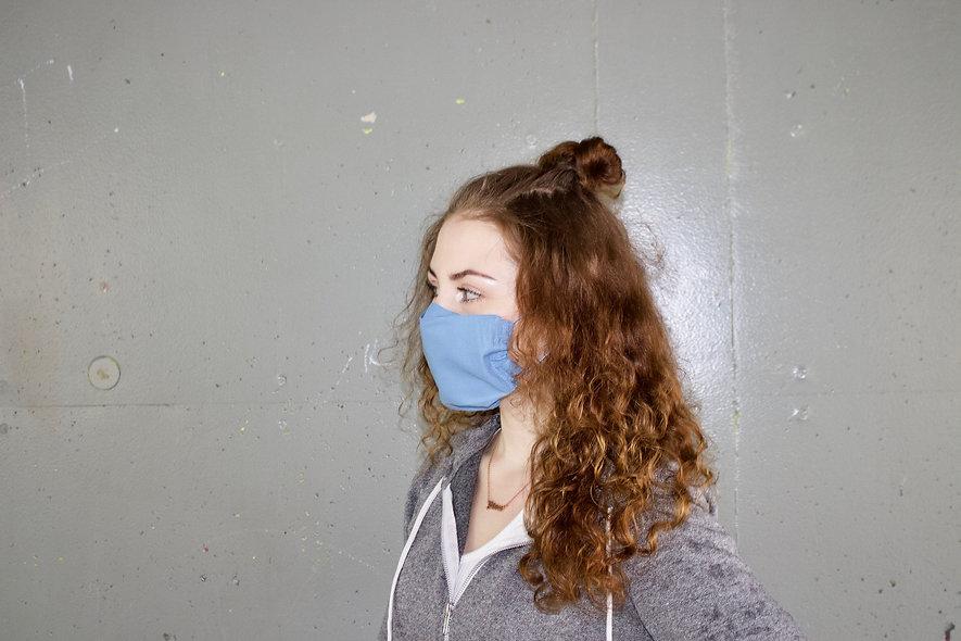 Hell Blau Baumwolle Flap Maske- hannisch