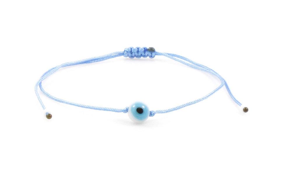 UKordel Evil Eye Blau Weiß Rund Perle Armband/Fußkette