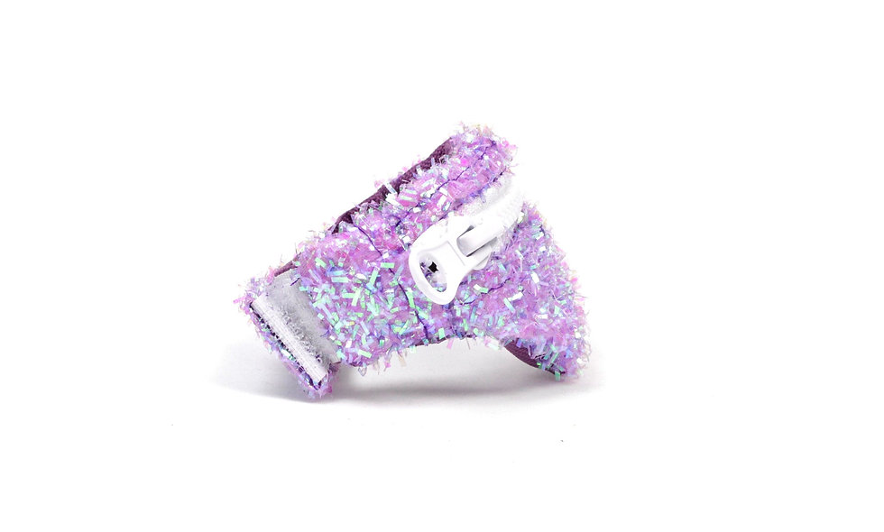 Gelenktasche  Fuzzy Glitter Lila Holo Gelenk Tasche - hannisch