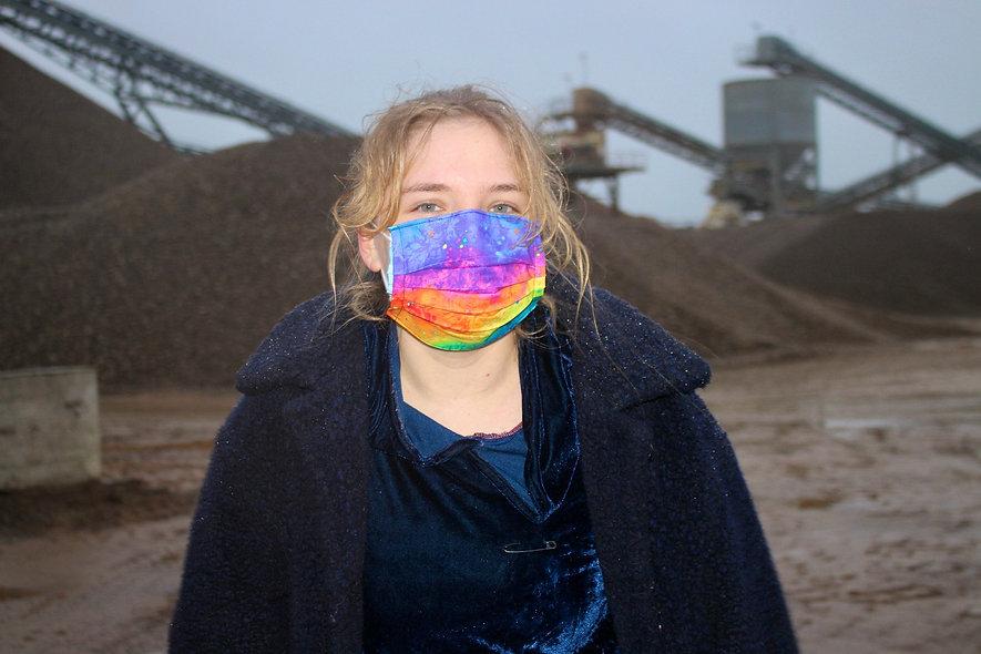 Regenbogen Baumwolle OP- Masken Überzieher- hannisch