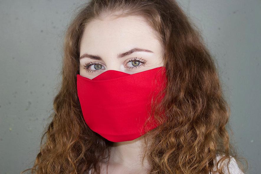 Rot Baumwolle Flap Maske- hannisch
