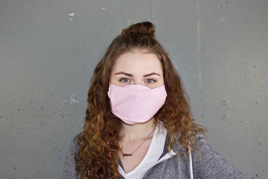 Hell Rosa Baumwolle Flap Maske- hannisch