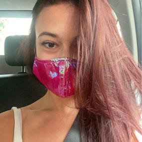 Holographic Foil Warm Pink Mask