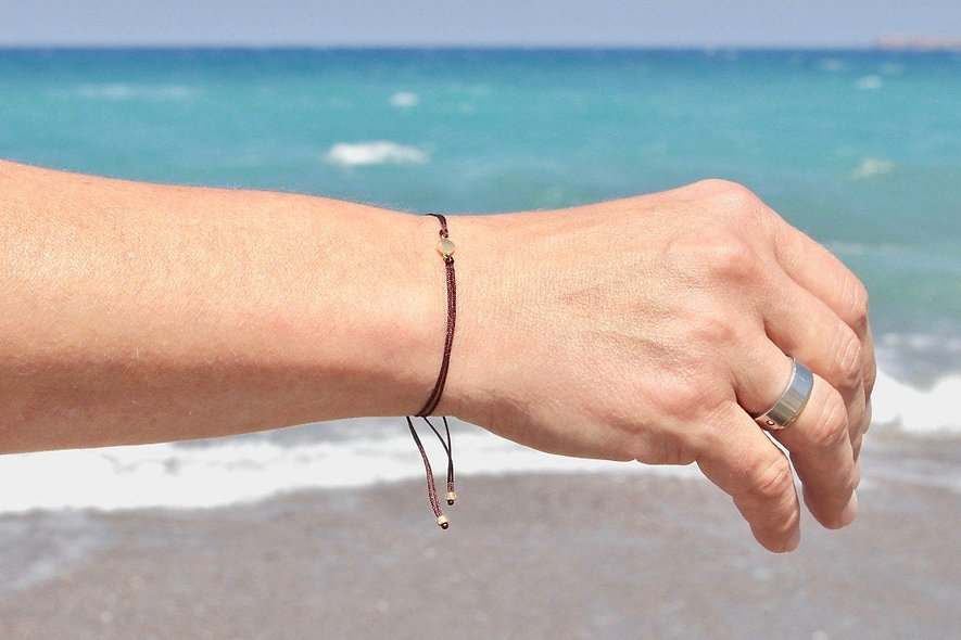 Kordel Gold Plättchen Armband/Fußkette