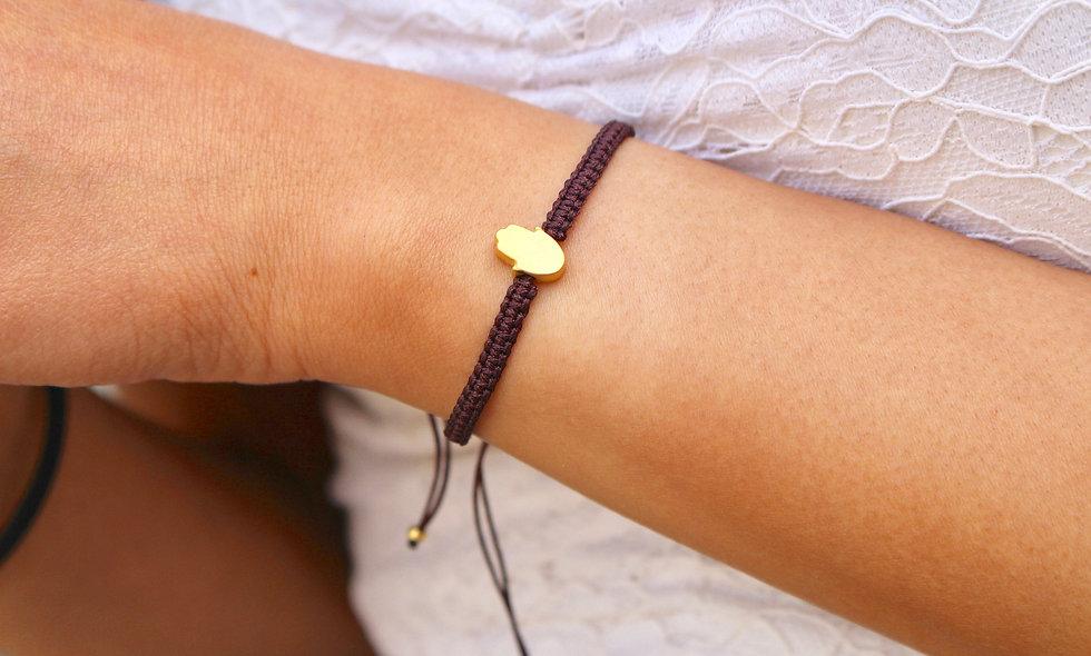 Makramee Kleine Hand Gold Perlen Armband/Fußkette