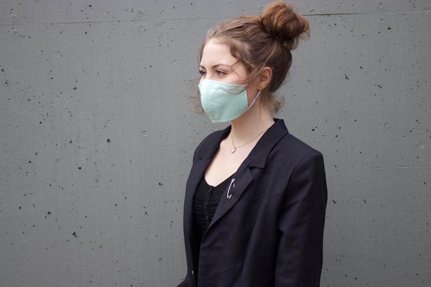 Mint Grün Baumwolle Maske- hannisch