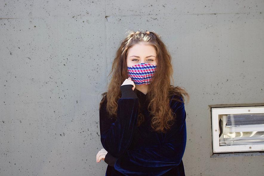 Illusion Geometrisch Retro Maske- hannisch
