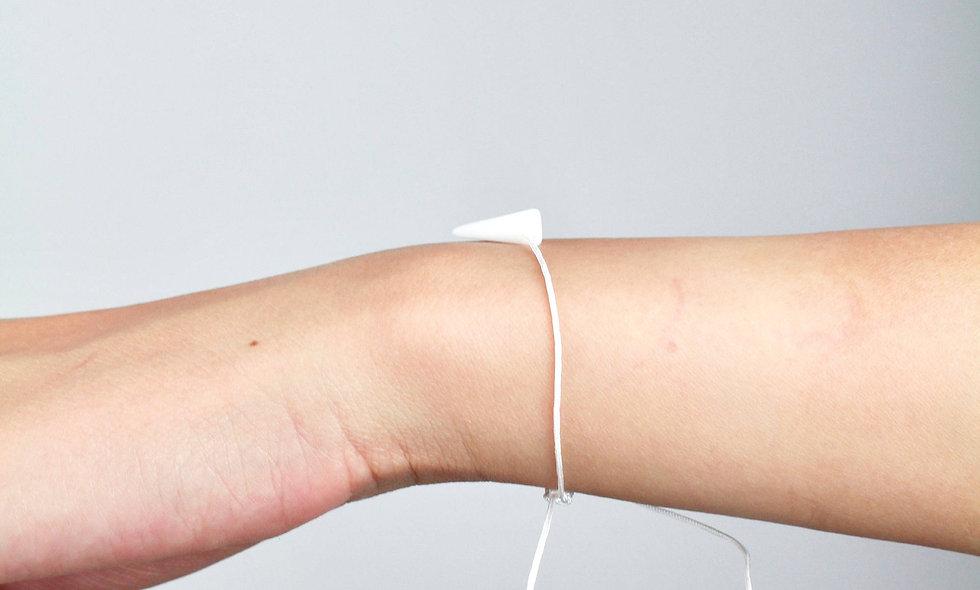 Kordel Horn Weiß Glasperlen Armband/Fußkette