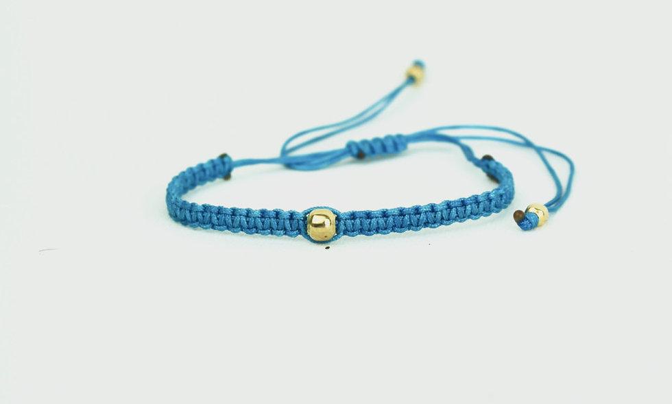Makramee Gold Perle  Armband/Fußkette