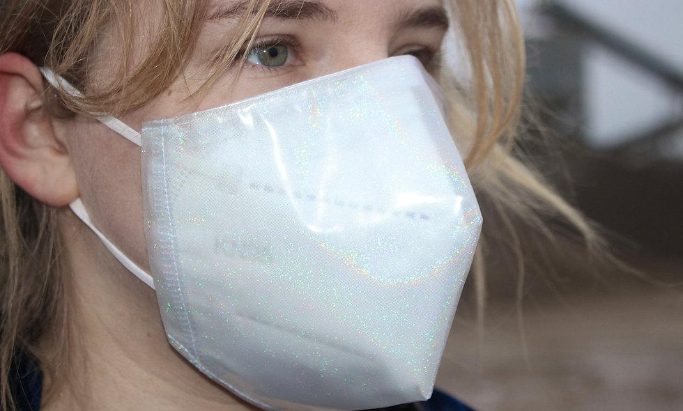 Holo Glitter Transparent FFP2 & KN95 Masken Überzieher- hannisch