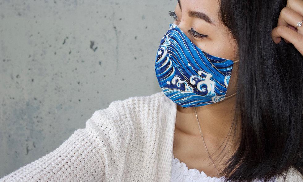 Wellen Baumwolle Maske- hannisch