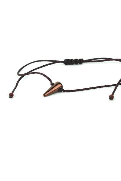 Kordel Horn Braun Metallic Glasperlen Armband/Fußkette