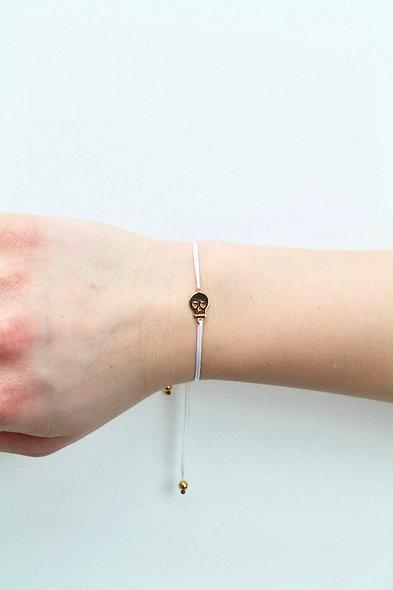 Kordel Sugar Skull Gold Armband/Fußkette
