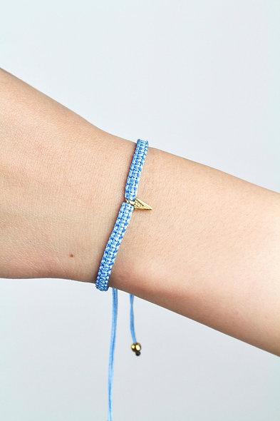 Makramee Pfeilspitze Gold  Armband/Fußkette