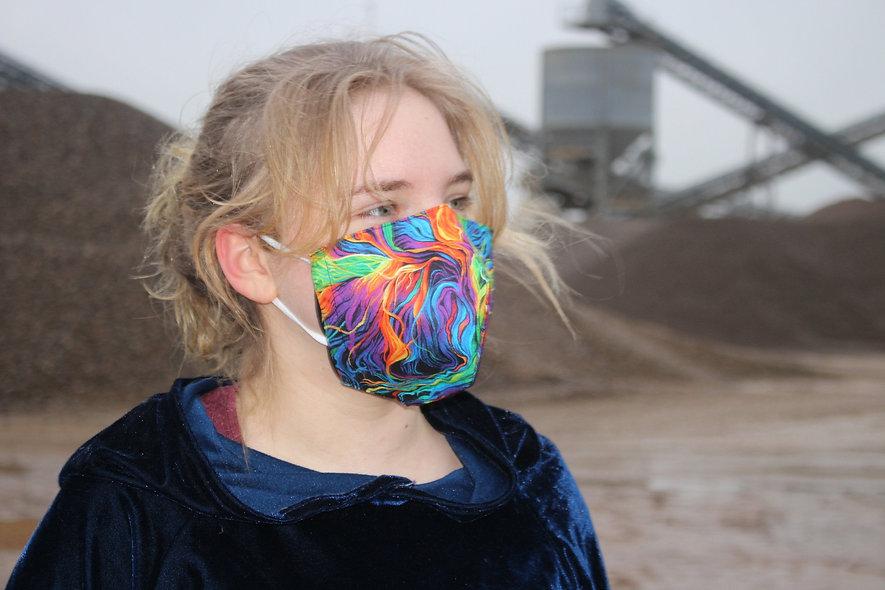 Illusion Bunt Baumwolle FFP2 & KN95 Masken Überzieher- hannisch